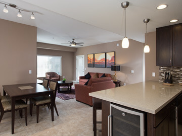 condos for rent in phoenix - dining & living room