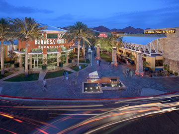 Toscana Condo Rentals - Desert Ridge Entrance at Night