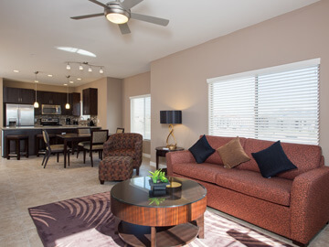 phoenix condo rentals - milano living and dining room
